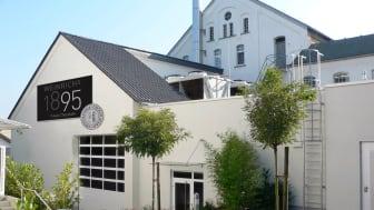 Das neue Verwaltungsgebäude von Weinrich Schokolade aus Herford wurde 2015 fertiggesellt und bezogen. Hier zu sehen: Conchenhalle auf dem Werksgelände