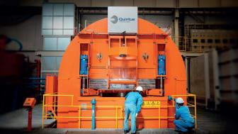bilden syns en stor het isostatisk press från Quintus Technologies. HIPpen är den största i världen och finns i Japan hos Metal Technology Co. Ltd. (MTC), moderföretag till MTC Powder Solutions.
