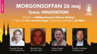 Morgonsoffan den 26 maj på temat innovation.