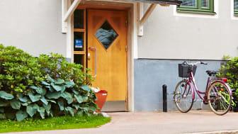 Dörr där Smartpassage är installerat