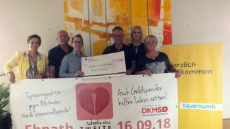 Spende für Spender – Bayernwerk unterstützt Ebnather Typisierungsaktion Schenke eine zweite Chance