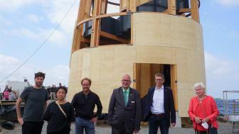 Architekten Hans-Christian Buhl&Sophie Tang, Architekt Volker Binding, Bürgermeister Jörg Weber, Tourismusdirektor Oliver Behncke, Bürgervorsteherin Brigitte Brill ©TSF.JPG