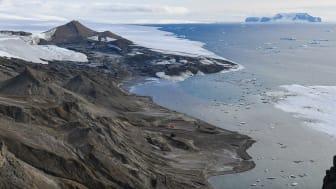 Vy över Snow Hillön på Antarktis. Foto: Luleå tekniska universitet