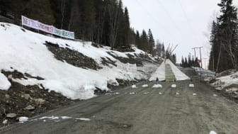 Adkomstveien til Storheia vindpark stengt av aktivister