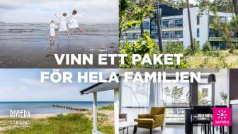 Tävla och vinn ett familjepaket på härliga Riviera Strand i Båstad!
