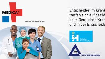 Newsletter KW 34: Medica / 41. Deutscher Krankenhaustag - Jetzt online registrieren