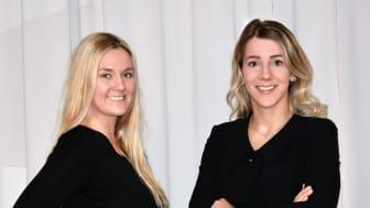 Studenterna Susanna Österlund och Ellen Weberg utvecklat design och konstruktion på en nuvarande maskinprototyp åt Pegil Innovations AB.