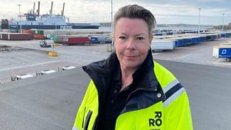 Maria Franksen tillträdde som ny vd på Gothenburg RoRo Terminal i november 2020 och har stora hållbarhetsvisioner