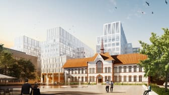 Illustration: White arkitekter. Nya Malmö sjukhus - Östra torget.