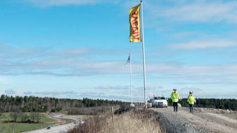 På uppdrag av E.ON ska Svevia anlägga en 22 kilometer lång fjärrvärmeledning till den nya kretsloppsanläggningen. Foto: Fredrik Schlyter