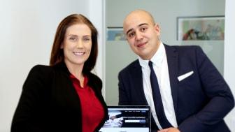 På bilden är teamet Point of Law, från vänster: Nathalie Pedersen & Radwan Elkhalki