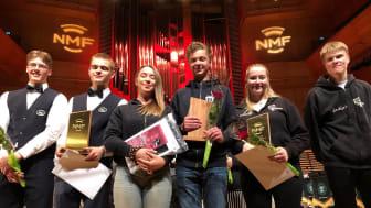Premieutdeling fra NM skolekorps brass 2019. Smørås Skolemusikk ble norgesmester, men må vente med å forsvare tittelen til 2021. Foto: NMF
