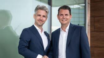 Patrik Sporre (t.v.) har utsetts till regionchef i Göteborg för IoT & AI på Sigma IT. Här tillsammans med David Österlindh, Senior Director IoT & AI på Sigma IT.