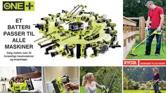 RYOBIs® SORTIMENT AF ONE+™ VÆRKTØJER BLIVER NU ENDNU STØRRE  - 5 nye værktøjer i sortimentet