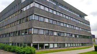 Bygningen som er en del af Københavns Universitet (KU-Bio) hvor de PCB-holdige vinduer og fuger skal udtages of forsegles med SPS Primær.