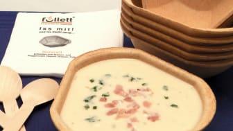 Füllett, die, bio-vegan gebackene  essbare Suppenschale