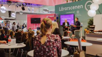 Lärarscenen på Bokmässan 2018. / Foto: Natalie Greppi.