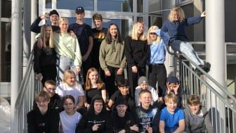 Fotbollsklassen 7b, Hortlax skola i Piteå, vann UR:s skrivtävling. Foto: Camilla Lundmark.