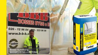 Bosse Sundberg på Bosses Bygg & Betong gillar weberfloor 140 Nova