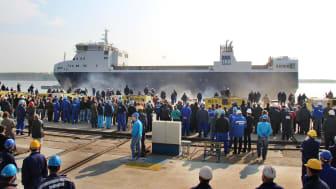 SKB:s nya fartyg m/s Sigrid sjösatt