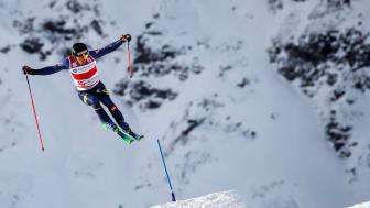 David Mobärg, Edsåsdalen, är en av tre svenska världscupvinnare den här säsongen. Nästa vecka får han och svenska laget ny möjlighet när det är tävlingar på hemmaplan. Foto: Bildbyrån