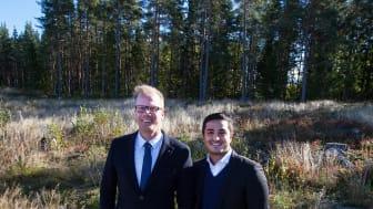 Emrahus VD Robin Berkhuizen och Affärsutvecklare på Attendo, Vahid Mir Babaei