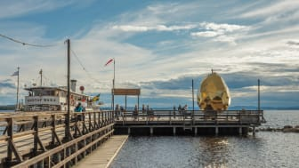 Seda i Juni har Solar Egg stått längst ut på Långbryggan i Rättvik. Foto: Jean-Baptiste Béranger