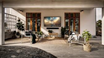UTENDØRS UNDERHOLDNING: Samsung The Terrace blir tilgjengelig for salg i Norge i slutten av april.