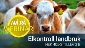 Elkontroll landbruk 405-3 Tillegg B