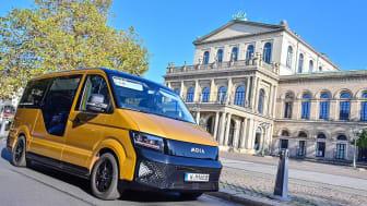 Volkswagen mobilitetstjänsteleverantör MOIA har erbjudit sina tjänster i Hannover sedan sommaren 2018 - med omedelbar support från Conti360 ° Fleet Solutions. Upphovsrätt: MOIA GmbH