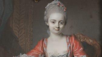 Johann Eusebius Alphen, Portrait of Countess van Lebel, 1767. Photo: Anna Danielsson/Nationalmuseum.