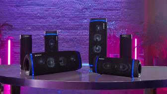 Nowe bezprzewodowe głośniki Sony EXTRA BASS™: doskonały dźwięk w każdym miejscu
