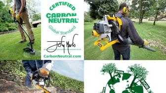 Ryobi erbjuder koldioxidneutrala trädgårdsmaskiner till de miljömedvetna.