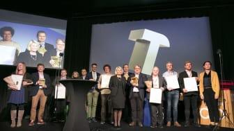 Vinnere av Gullhammeren 2018 delt ut på Det Norske Byggemøtet.