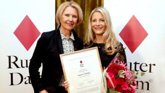 Grundare av Ruter Dam, Gunilla Ahrén och Årets Ruter Dam, Susanne Ehnbåge (Fotograf: Karina Ljungdahl)