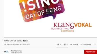 Weiterhin zu sehen bei YouTube - der digitale DAY OF SONG