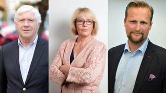 Johnny Magnusson, Irene Svenonius och Carl Johan Sonesson