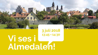 Urbangreen tillsammans med Gröna Städer i Almedalen – seminarium 3 juli 2018