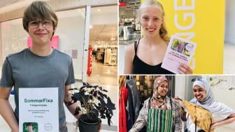 Ungdomarna har bland annat fått träna på att marknadsföra sina idéer, som till exempel här vid en utställning på ett köpcenter.