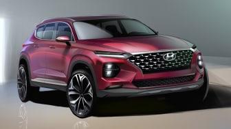 Första renderingarna på fjärde generationen Hyundai Santa Fe.