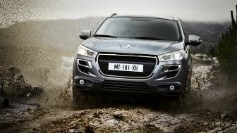 Peugeot på bilsalongen i Genève:  Världspremiär för robusta kompaktsuven Peugeot 4008