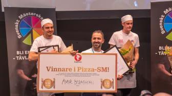 Amir Bozaghian från Pizza Vezzo i Umeå vann Pizza-SM 2018. Foto: Jonas Sveningsson/Stockholmsmassan