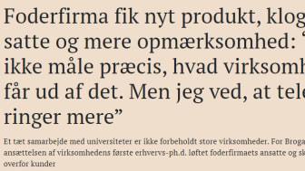 "Børsen om Brogaarden: ""Foderfirma fik nyt produkt og klogere ansatte..."""