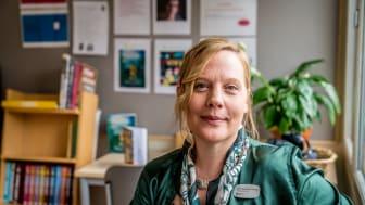 Vinnare av Pennsvärdet 2018: Läraren Jenny Söderhjelm Larsson, Östbergaskolan, Stockholms stad.