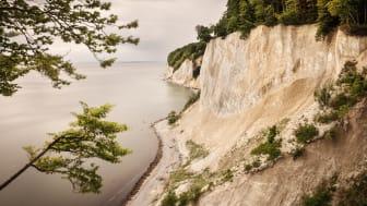"""UNESCO Verdensarvliste: Tysklands gamle bøkskog, utsikt til """"Königsstuhl"""" (kongestol), Jasmund nasjonalpark, kalk klippene på øyen Rügen"""