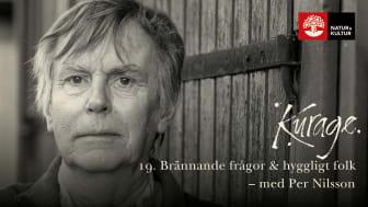 Författaren Per Nilsson samtalar med Yukiko Duke i podden Kurage.         Foto: Mattias Mattisson