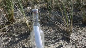Flaschenpostfund auf der Ostseeinsel Fehmarn