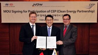 Hyundai signerer avtale om brenselcellebiler i Tyskland