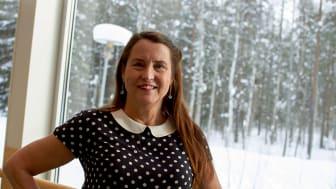 Cecilia Björklund Dahlgren får Sparbanken Nords kulturpris. Fotograf: Lars Andersson