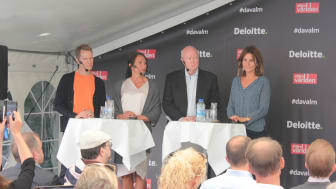 """Panelen under seminariet """"Protektionism på framfart – hur påverkas Sverige och världen?"""